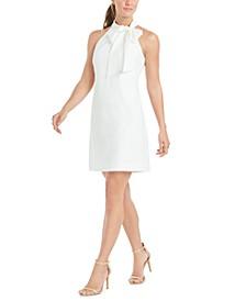 Bow-Neck Halter Dress