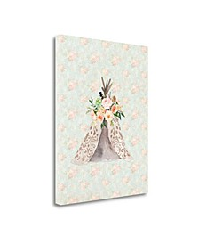 Teepee On Floral by Tara Moss Giclee Print on Gallery Wrap Canvas