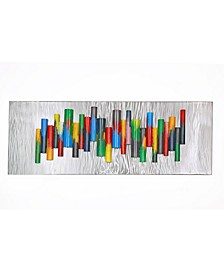"Multicolor Chime Wall Mountable Original Artwork, 20"" x 53"""