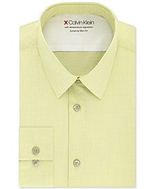 Men's Extra-Slim Fit Performance Stretch Vine Stripe Dress Shirt