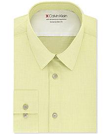 Calvin Klein Men's Extra-Slim Fit Performance Stretch Vine Stripe Dress Shirt