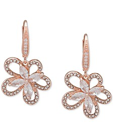 Crystal 3D Flower Drop Earrings