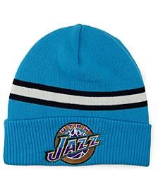 Utah Jazz HWC Retro Stripe Knit Hat