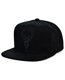 Milwaukee Bucks Under The Black Snapback Cap