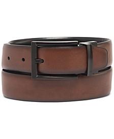 Men's Tonal-Buckle Belt, Created for Macy's