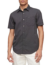 Calvin Klein Men's Short Sleeve Pocket Twill Shirt