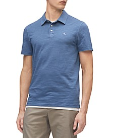 Calvin Klein Men's Short Sleeve Monogram Slub Polo