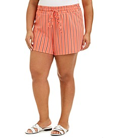 Trendy Plus Size Drawstring-Waist Shorts