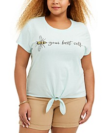 Trendy Plus Size Bee-Print T-Shirt