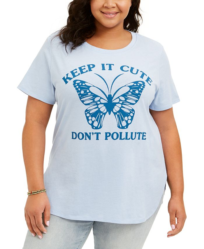 Love Tribe - Trendy Plus Size Don't Pollute T-Shirt
