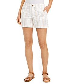 Striped Slit-Hem Shorts, Created for Macy's