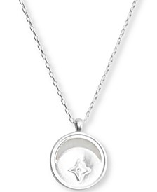 "Silver-Tone Moon & Star Charm Pendant Necklace, 20"" + 2"" extender"