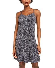 Floral-Print Slip Dress, Regular & Petite Sizes