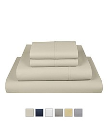Liberty 750 Thread Count Cotton Rich Wrinkle Resistant King Sheet 6-Piece Set, Fits Mattress Upto 17""
