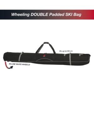 Athalon Wheeling Double Ski Padded Bag In Black