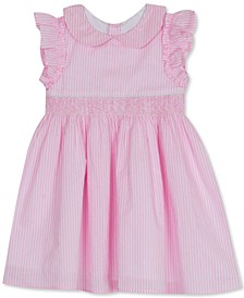 Baby Girls Peter Pan-Collar Cotton Dress