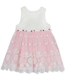 Baby Girls Pink & White Lace Dress