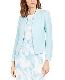 Shawl-Collar Crepe Jacket