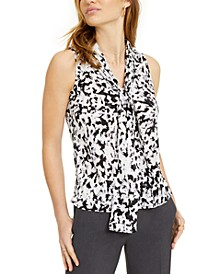Tie-Neck Printed Top, Created for Macy's