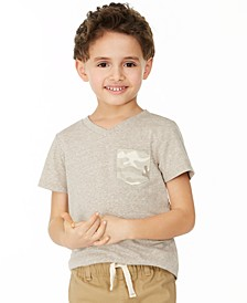 Toddler Boys Khaki Camo Pocket T-Shirt, Created for Macy's