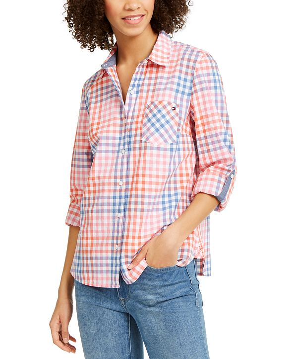 Tommy Hilfiger Check-Print Button-Up Shirt