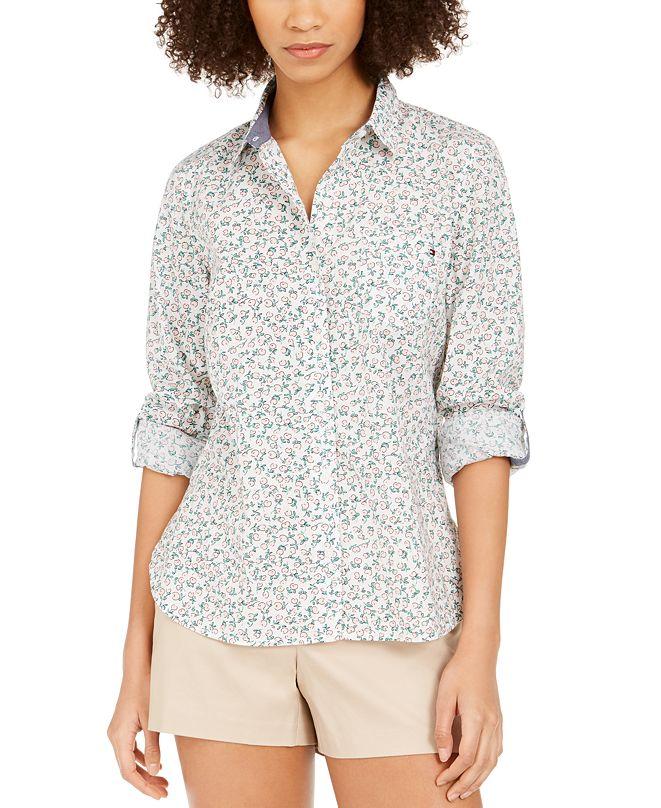 Tommy Hilfiger Cotton Floral-Print Shirt