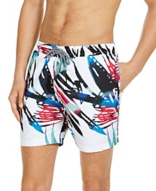"INC Men's Luca Palm 5"" Swim Trunks, Created for Macy's"