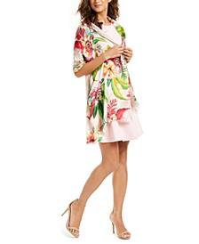 Paradise Floral Silk Tubular Wrap