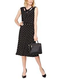 Dot-Print Knit Top & Midi Skirt