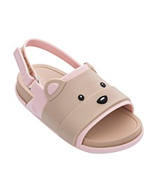 Toddler Girls Beach Slide Bear Sandal