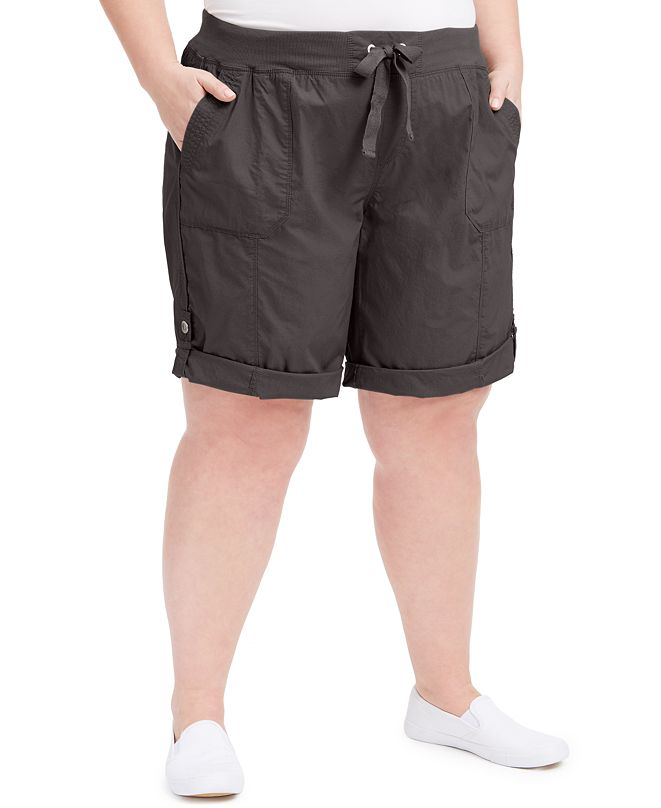 Calvin Klein Plus Size Woven Active Shorts