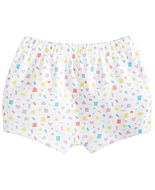 Baby Girls Confetti-Print Cotton Shorts, Created for Macy's