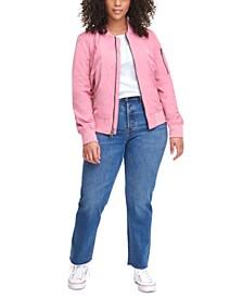 Trendy Plus Size  Melanie Bomber Jacket