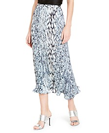 Alex Printed Midi Skirt