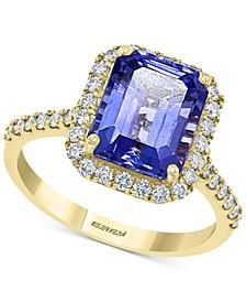 EFFY® Tanzanite (2-7/8 ct. t.w.) & Diamond (3/8 ct. t.w.) Ring in 14k Gold