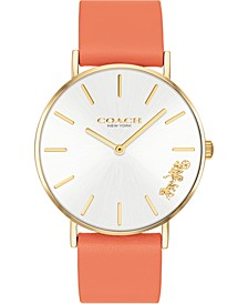 Women's Perry Coral Leather Strap Watch 36mm
