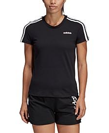 Women's Cotton Slim 3-Stripe T-Shirt