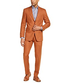 Men's Modern-Fit  Rust Suit Separates