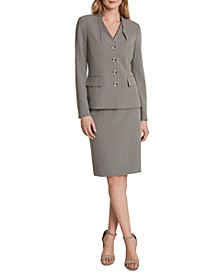 Four-Button Jacket Skirt Suit