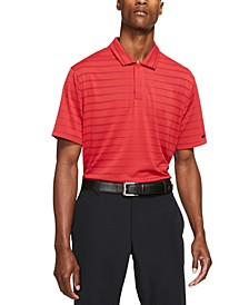 Men's Tiger Woods Dri-FIT Striped Golf Polo