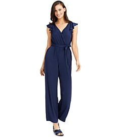 Flutter-Sleeve Jumpsuit, Created for Macy's
