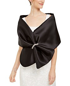 Mikado Embellished Satin Wrap