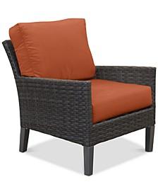 Amari Pepper Outdoor Club Chair with Sunbrella® Cushions