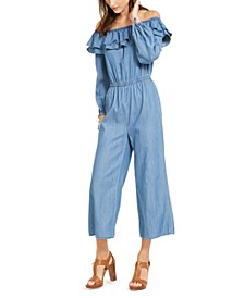 Ruffled Off-The-Shoulder Jumpsuit, Regular & Petite Sizes