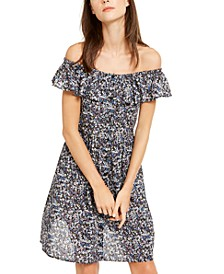 Button-Front Ruffle Dress, Regular & Petite Sizes