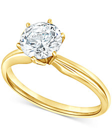 Diamond Solitaire Engagement Ring (1-1/2 ct. t.w.) in 14k White or Yellow Gold