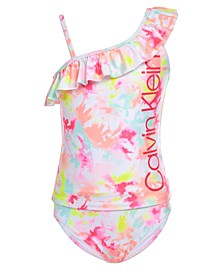 Big Girls 2-Pc. Asymmetrical Ruffle Tankini