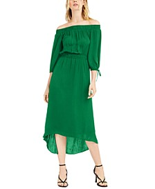 INC Off-The-Shoulder High-Low Dress, Created for Macy's