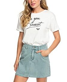 Juniors' Linger Longer Cotton Corduroy Skirt