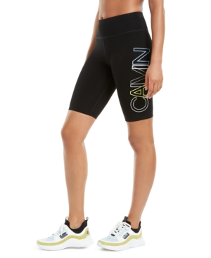 Calvin Klein Performance Outline-logo Bike Shorts In Black